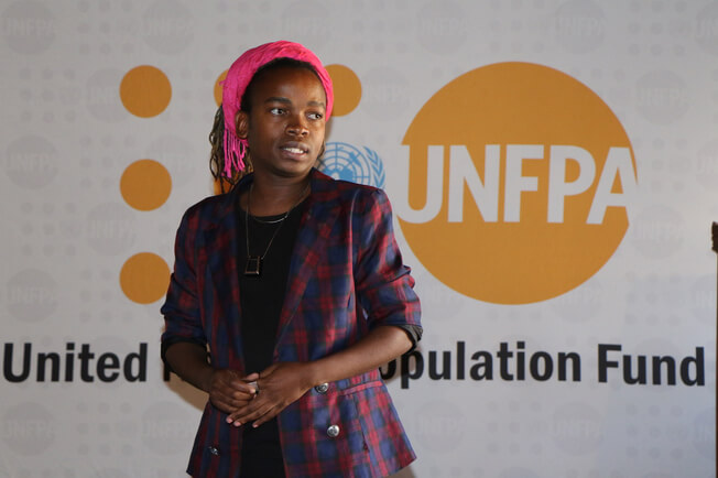 A transgender woman and advocate in Botswana