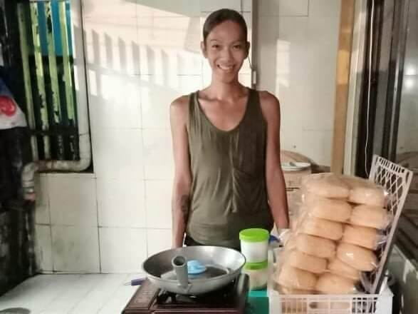 A transgender woman in the Philippines.