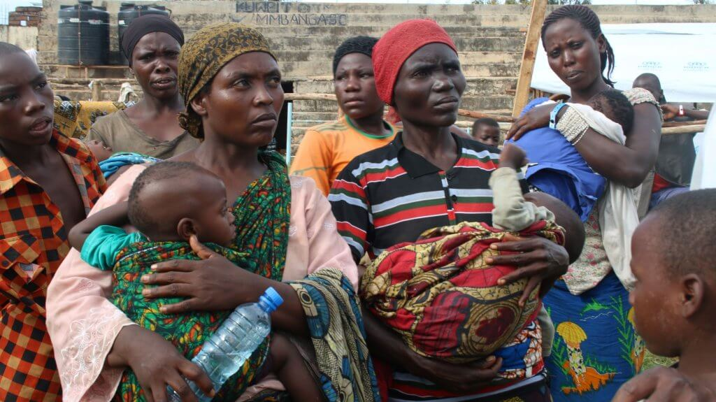 Refugees seek safety from violence in Burudni.